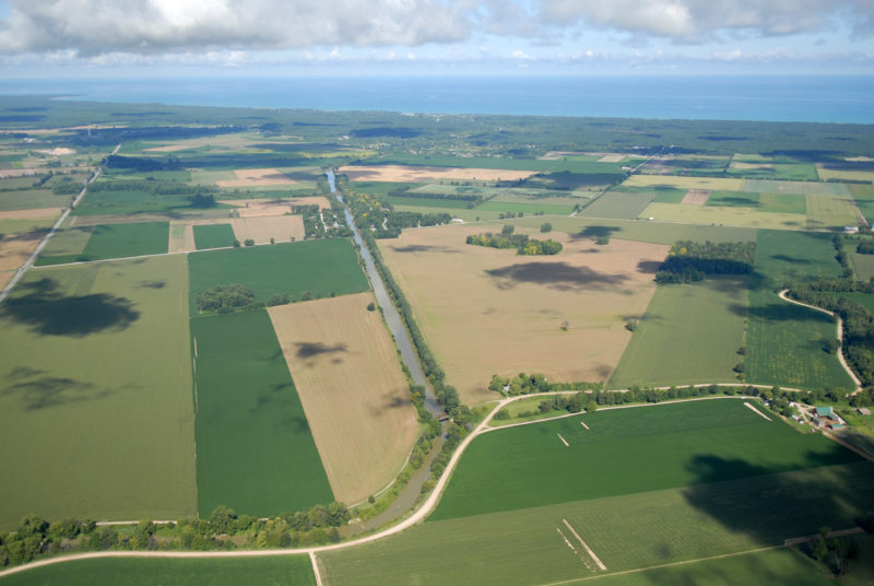 Southern Ontario agriculture along Lake Huron's southeast shore. Credit: Daniel Holm Photography