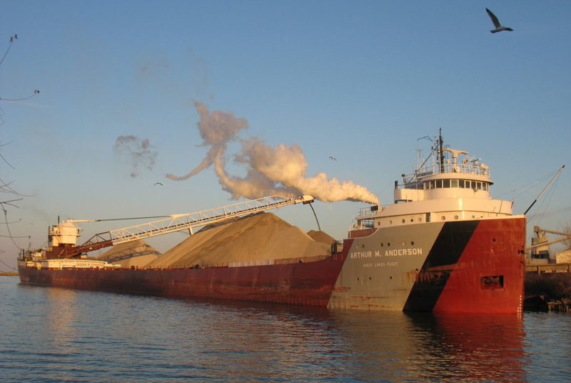 The A.M. Anderson, a Great Lakes Fleet vessel, is one of many ships supporting the $13.4 billion Great Lakes shipping economy.