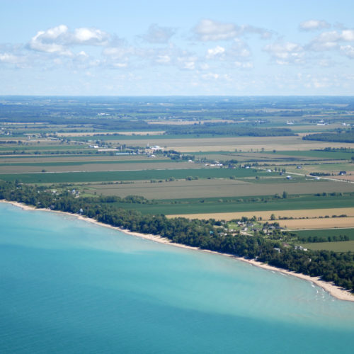 Lake Huron waters support a thriving agricultural sector, particularly in the southeastern portion of the watershed. Credit: Daniel Holm Photography