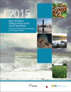 state of climate change science in Great Lakes Basin Report Cover